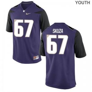 Chase Skuza UW Huskies Jerseys Youth Game Purple