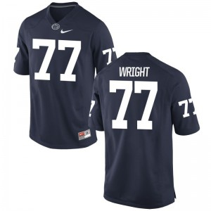 Penn State NCAA Chasz Wright Game Jersey Navy Mens