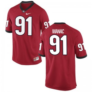 UGA Bulldogs Jerseys of Chauncey Manac For Men Red Game