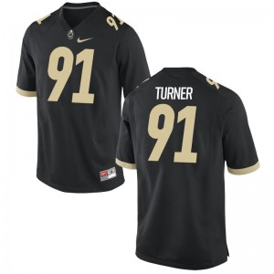 Purdue Jerseys of Chazmyn Turner Game For Men Black