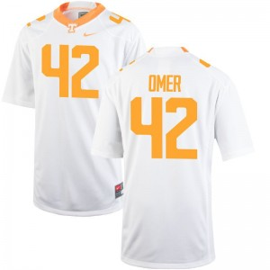 Chip Omer Tennessee Vols College Jersey Mens Game Jersey - White