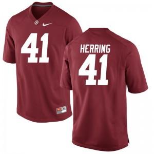 Chris Herring Mens Jersey S-3XL Alabama Crimson Tide Game - Red