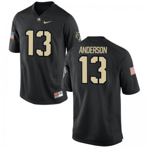 Christian Anderson United States Military Academy Jerseys S-3XL For Men Game Jerseys S-3XL - Black