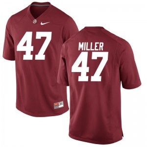 Mens Game Red Bama Jersey of Christian Miller