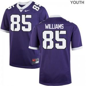 Texas Christian Christian Williams Jersey S-XL Kids Game Jersey S-XL - Purple