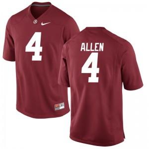 Christopher Allen Football Jersey Mens Alabama Game - Red