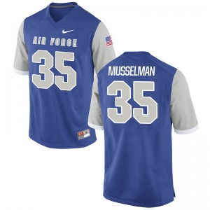 Christopher Musselman USAFA College Jerseys For Men Game - Royal