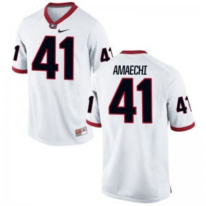UGA Bulldogs Chuks Amaechi Youth(Kids) Limited White Jersey