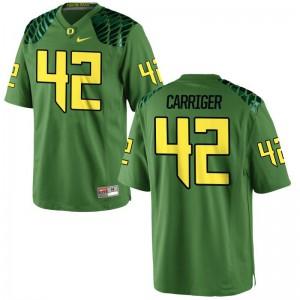 Cody Carriger Oregon Ducks Jerseys Apple Green Game For Men