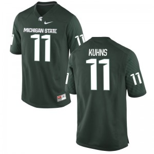 Game Green Mens Spartans NCAA Jerseys of Colar Kuhns