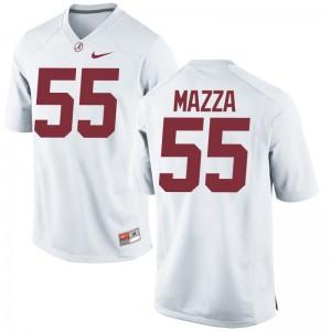 Alabama Cole Mazza Jerseys White Game Womens Jerseys