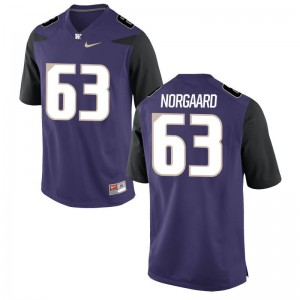 Cole Norgaard University of Washington Mens Purple Game Player Jersey