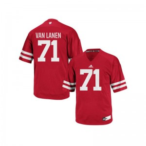 Men Cole Van Lanen Jerseys UW Authentic - Red