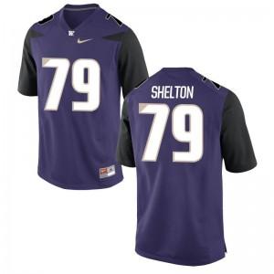 Coleman Shelton For Men Purple Jersey UW Game