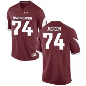 Arkansas Razorbacks Jersey Colton Jackson Men Game Cardinal