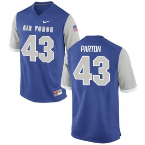 Air Force Academy Royal Men Game Colton Parton High School Jersey