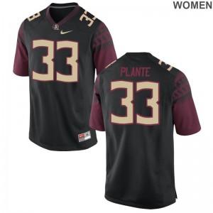 Colton Plante Football Jersey For Women FSU Limited - Black