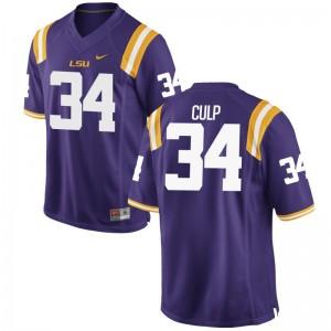 Connor Culp Game Jersey Men College LSU Purple Jersey