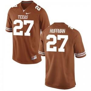 University of Texas Connor Huffman For Men Game Orange NCAA Jerseys