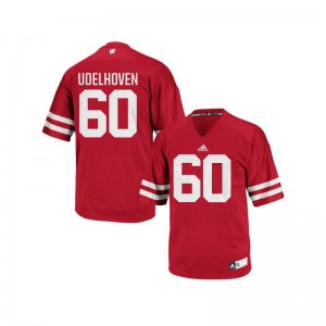 UW Connor Udelhoven Authentic Mens NCAA Jerseys - Red