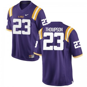 Mens Corey Thompson NCAA Jerseys LSU Purple Game