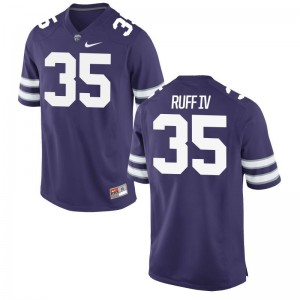 K-State Cornelius Ruff IV Player Jerseys Game Purple For Men