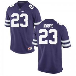 Cre Moore Kansas State Game For Men Player Jerseys - Purple
