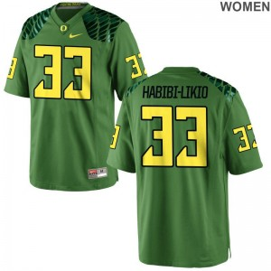University of Oregon Cyrus Habibi-Likio Jersey Apple Green Ladies Limited
