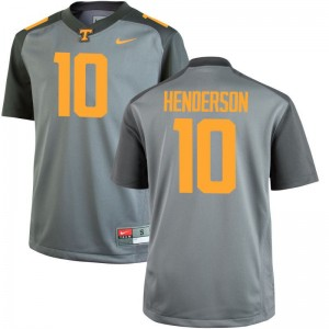 Tennessee Gray Game Mens D.J. Henderson College Jerseys