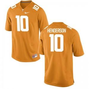 UT Player Jersey of D.J. Henderson For Men Game Orange