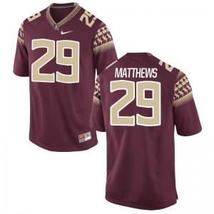 Florida State D.J. Matthews NCAA Jersey Garnet Game Mens