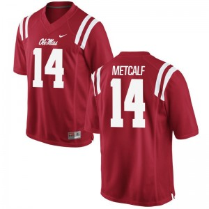 D.K. Metcalf Mens Rebels Jersey Red Game Football Jersey