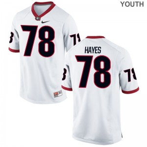 University of Georgia Limited For Kids White D'Marcus Hayes Jersey