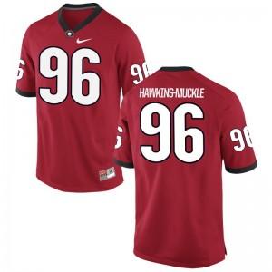 Red Men Limited Georgia Bulldogs Jersey of DaQuan Hawkins-Muckle