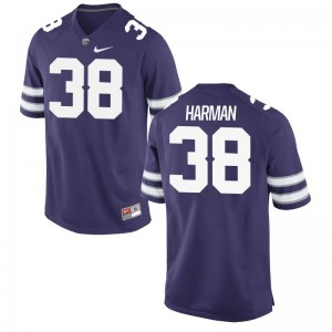 KSU Jerseys of Dalton Harman Game Men Purple