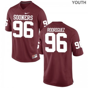Dalton Rodriguez Game Jerseys Kids High School OU Sooners Crimson Jerseys
