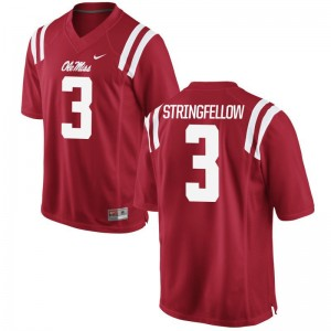 Rebels Damore'ea Stringfellow For Men Game Jerseys S-3XL - Red