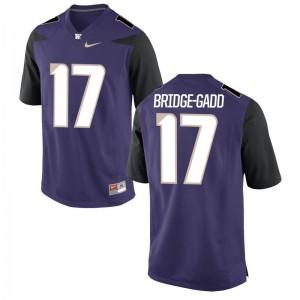 Daniel Bridge-Gadd University of Washington NCAA Jersey Game Purple Men