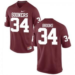 S-3XL Sooners Daniel Brooks Jerseys For Men Limited Crimson Jerseys
