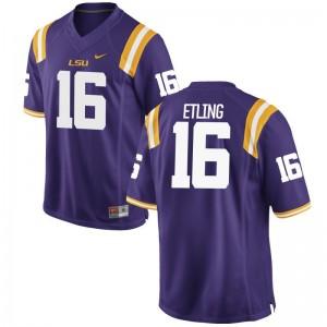 Louisiana State Tigers Danny Etling Game Jersey Purple Mens