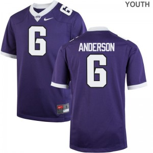 Darius Anderson TCU Horned Frogs Jersey S-XL Purple Youth(Kids) Game