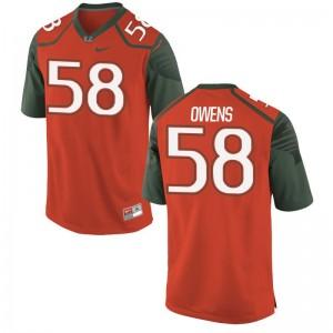 Miami Darrion Owens Jerseys Orange Mens Limited