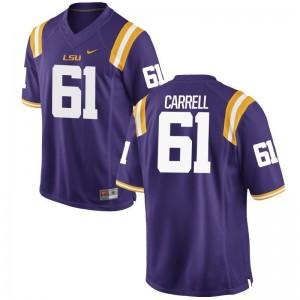 David-Michael Carrell LSU Tigers Jerseys S-3XL Game For Men Jerseys S-3XL - Purple