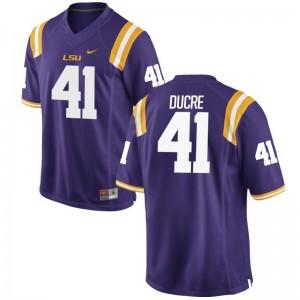 LSU David Ducre Jersey Men Game Purple