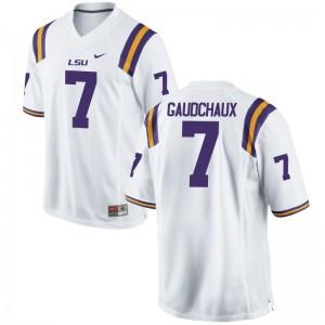 LSU Football Jerseys of Davon Gaudchaux Womens Limited White