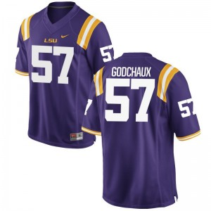Tigers Jersey of Davon Godchaux For Men Game - Purple