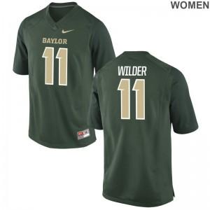 University of Miami De'Andre Wilder Jerseys S-2XL Limited Womens - Green
