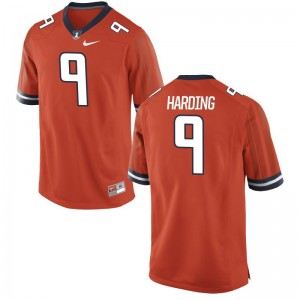 Dele Harding Illinois Player Jersey Orange For Men Game