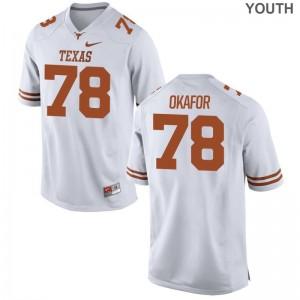 Denzel Okafor UT NCAA Jersey Game White Youth(Kids)