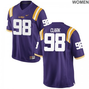 Deondre Clark Jersey Tigers Game Womens - Purple